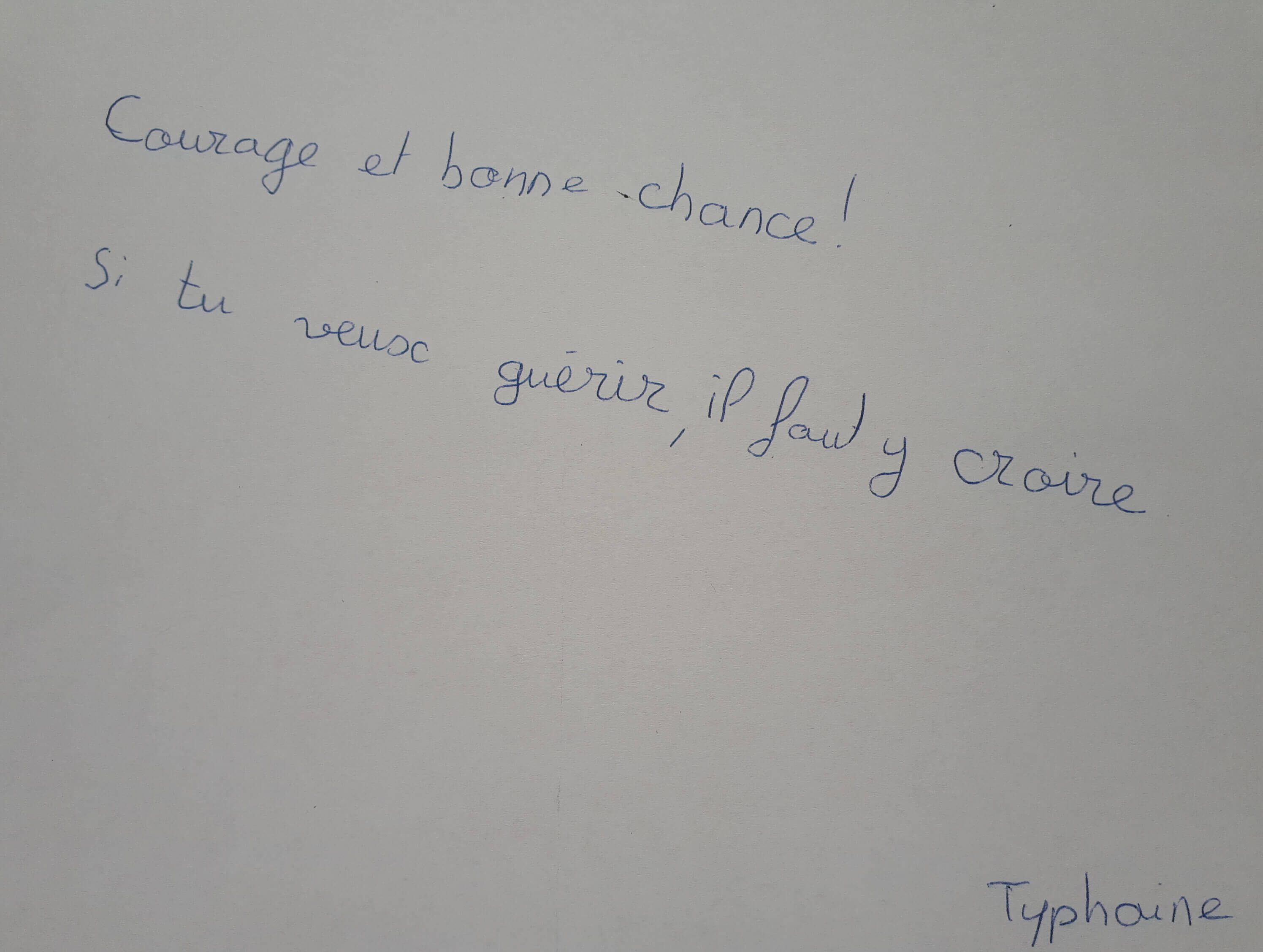 Le message de Typhaine